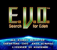 E.V.O. Search for Eden - SNES